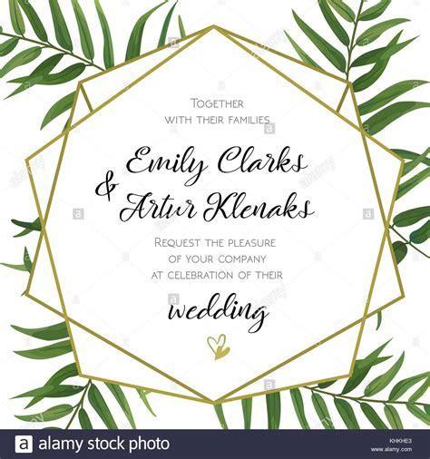 Wedding Invitation, floral invite card Design with green