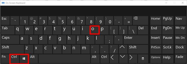 El teclado en pantalla de Windows 10