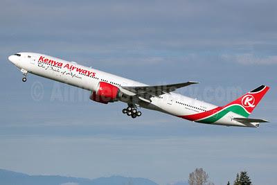 Kenya Airways Boeing 777-36N ER 5Y-KZZ (msn 41818) PAE (Nick Dean). Image: 912812.
