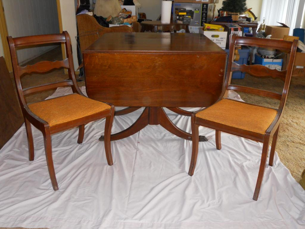 Antique Dining Table and 5 chairs For Sale | Antiques.com ...
