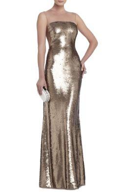 BCBGMAXAZRIA Evangeline Paillette Gown
