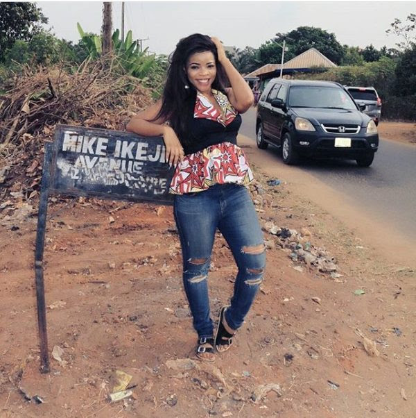 PICTURES: Heavily Pregnant Laura Ikeji Arrives Nkwerre For Her Traditional Wedding Happening Today