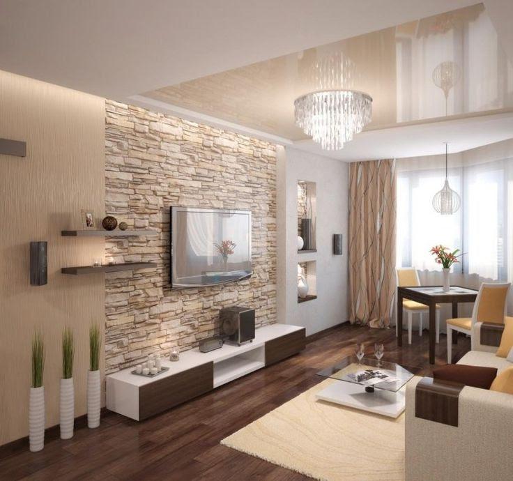 Wandgestaltung Wohnzimmer Beton