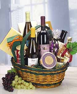wine basket for grandparent's day gift