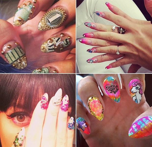 BELEZA - Unhas decoradas - Lily Allen (Foto: Instagram / Reprodução)