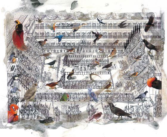 Ilustración de Frederic Amat para 'Las virtudes del pájaro solitario'.