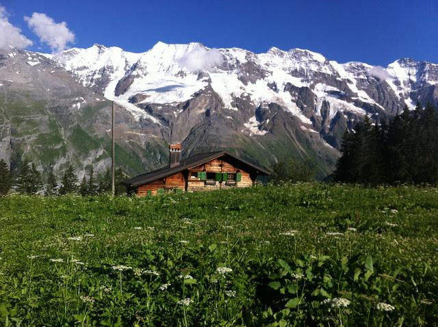 hike down the mountain (schilthorn)