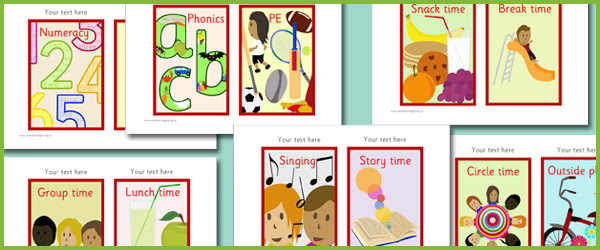 Visual Timetable, daily timetable, SEN, KS1, EYFS | Free Early ...