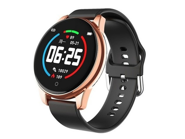 Smart Watch with Leather Strap for $49