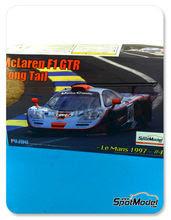 Maqueta de coche 1/24 Fujimi - McLaren F1 GTR Long Tail Gulf - Nº 41 - Olofsson + Raphanel + Gounon - 24 Horas de Le Mans 1997 - maqueta de plástico