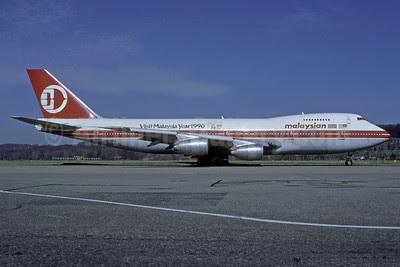 Malaysian Airline System (MAS) Boeing 747-236B 9M-MHI (msn 22304) (Visit Malaysia Year 1990) ZRH (Rolf Wallner). Image: 913472.