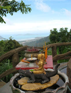 Shrine and view over Chalong Bay
