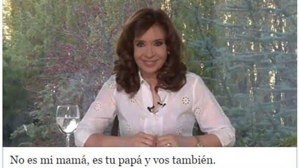 El post de Cristina en redes sociales
