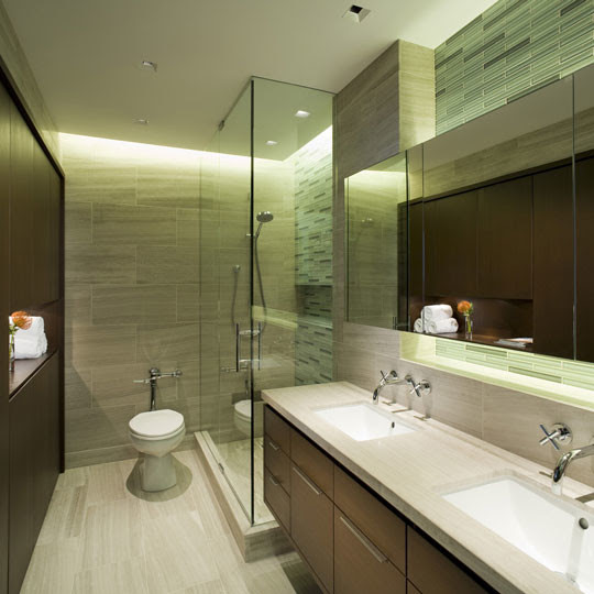 Tile Solutions for Small Spaces - Contemporary - Bathroom ...