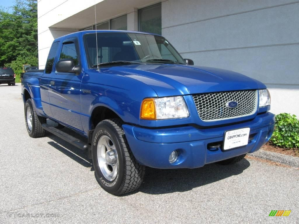 2002 Ford Ranger Edge SuperCab 4x4 - Bright Island Blue Metallic Color ...