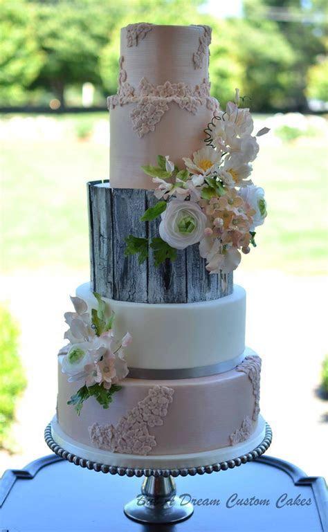 Rustic Glam Wedding Cake   CakeCentral.com