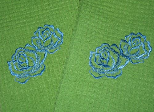 rose towel detail