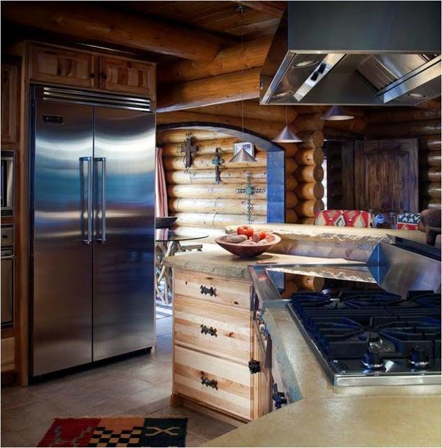 Log Cabin Kitchens - Traditional - Kitchen - Wichita - by ...