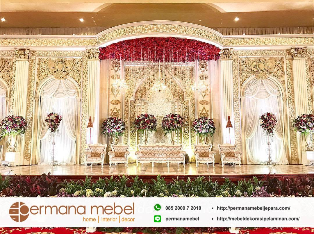 Desain Pernikahan Dekorasi Pelaminan Modern Mewah