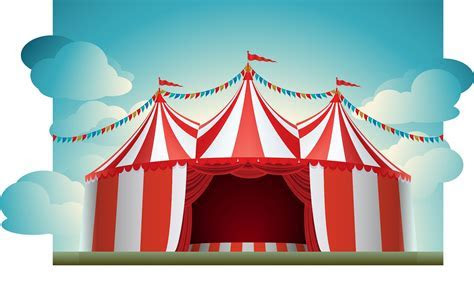 Carnival clipart party tent   Pencil and in color carnival