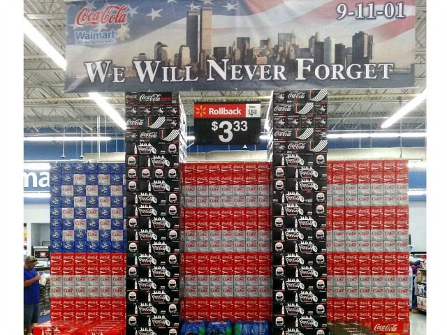 Image result for 9/11 walmart coke display
