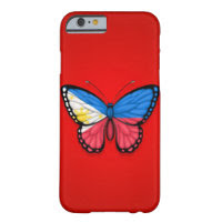 Filipino Butterfly Flag on Red Barely There iPhone 6 Case