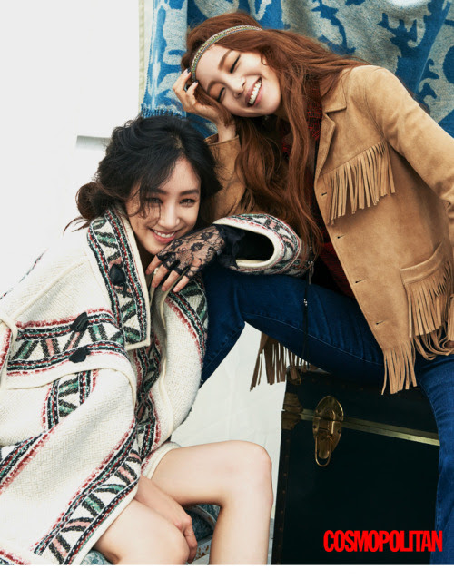 Han Ye Seul & Jung Ryeo Won for Cosmopolitan Korea September 2015. Photographed by Kim Young Joon