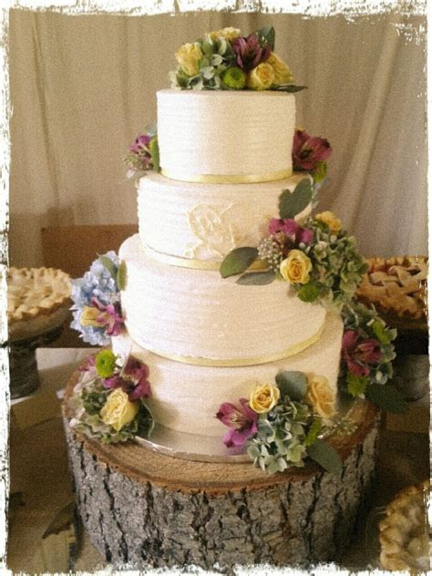 Party Cakes: Rustic 4 Tier Wedding Cake