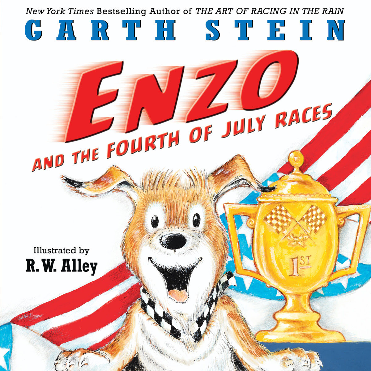 Early Reveal Enzo And The 4th Of July Races Cover Garth Stein