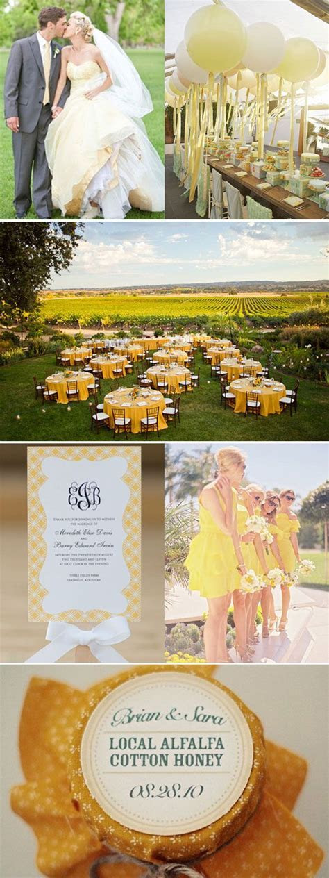 17 Best ideas about Yellow Wedding Colors on Pinterest
