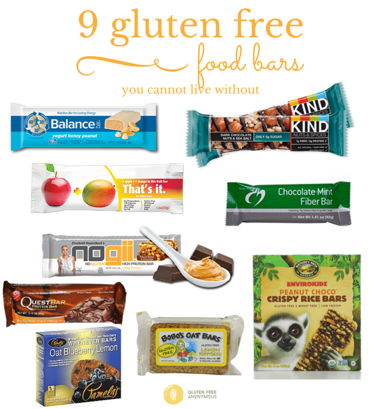 9 Gluten Free Food Bars You Cannot Live Without - Gluten ...