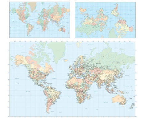 Psやaiなどあらゆる形式に対応した世界地図の無料デザイン素材20個
