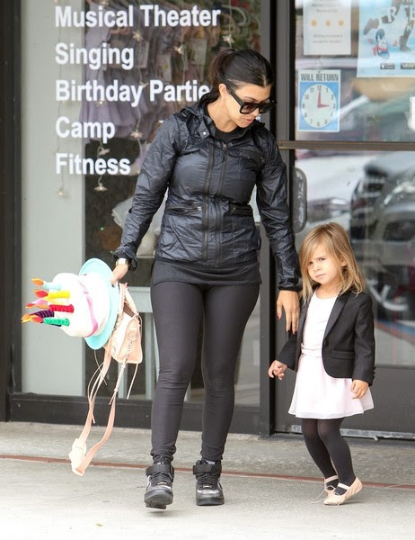 Kourtney Kardashian Takes Penelope to Ballet