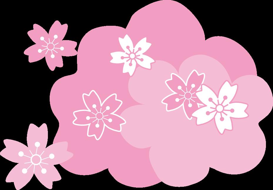 桜さくらと梅の花春のイラスト無料イラスト