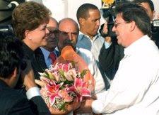 La Presidenta De Brasil, Dilma Rousseff, Y El Canciller Cubano, Bruno Rodríguez.