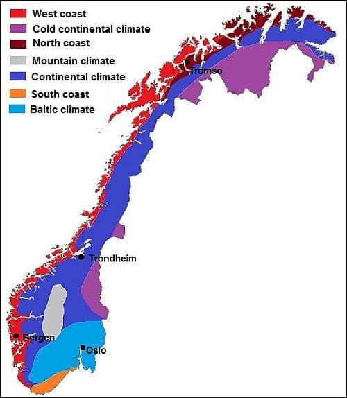 Norway climates