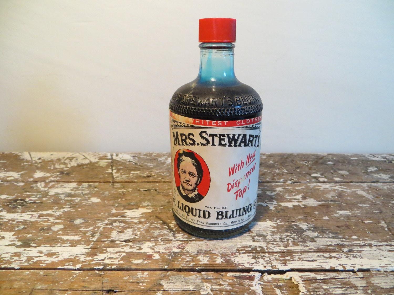 Vintage Bottles Mrs Stewart's Liquid by VintageShoppingSpree