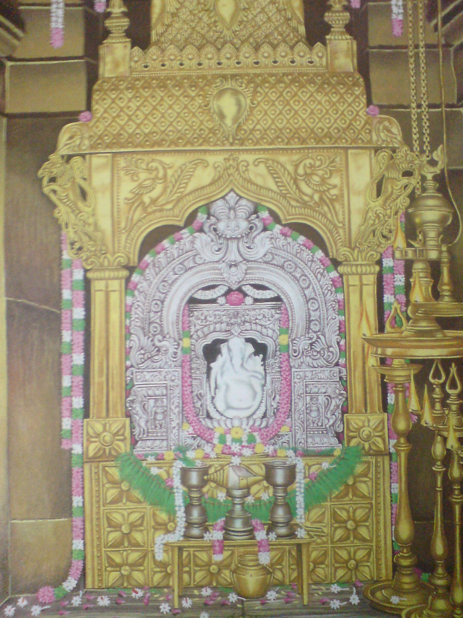Sri Vellai Pillaiyar or Swetha Vinayakar Temple - Thiruvalanchuzhi