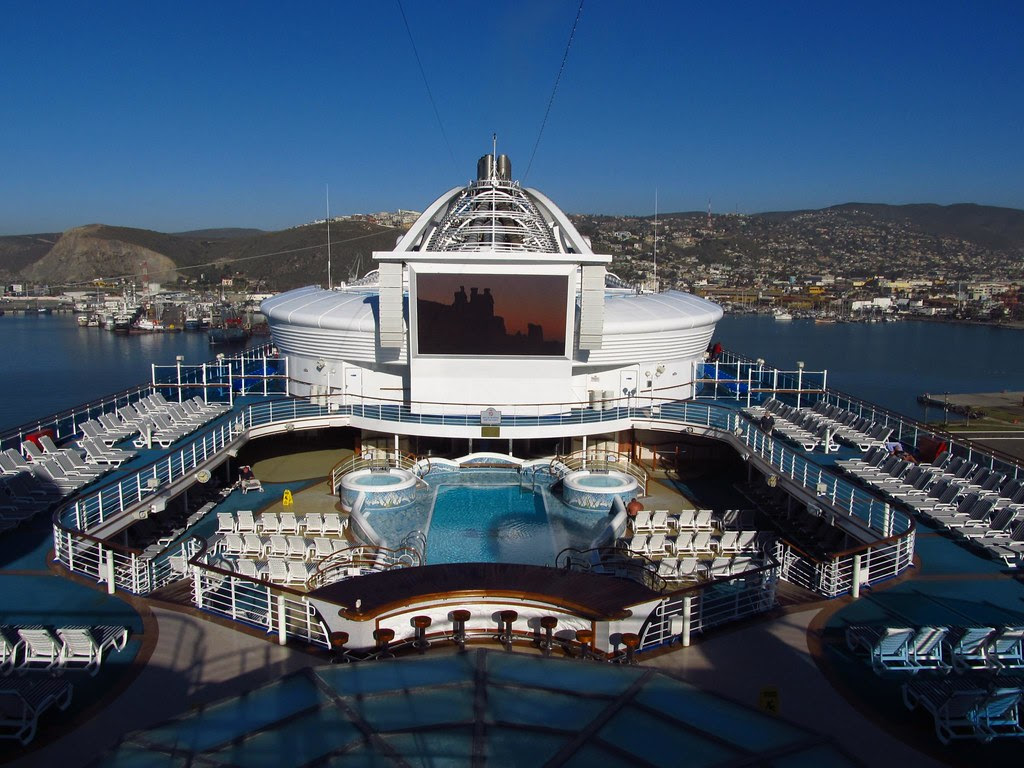 Ensenada Mexico Onboard The Golden Princess Docked At