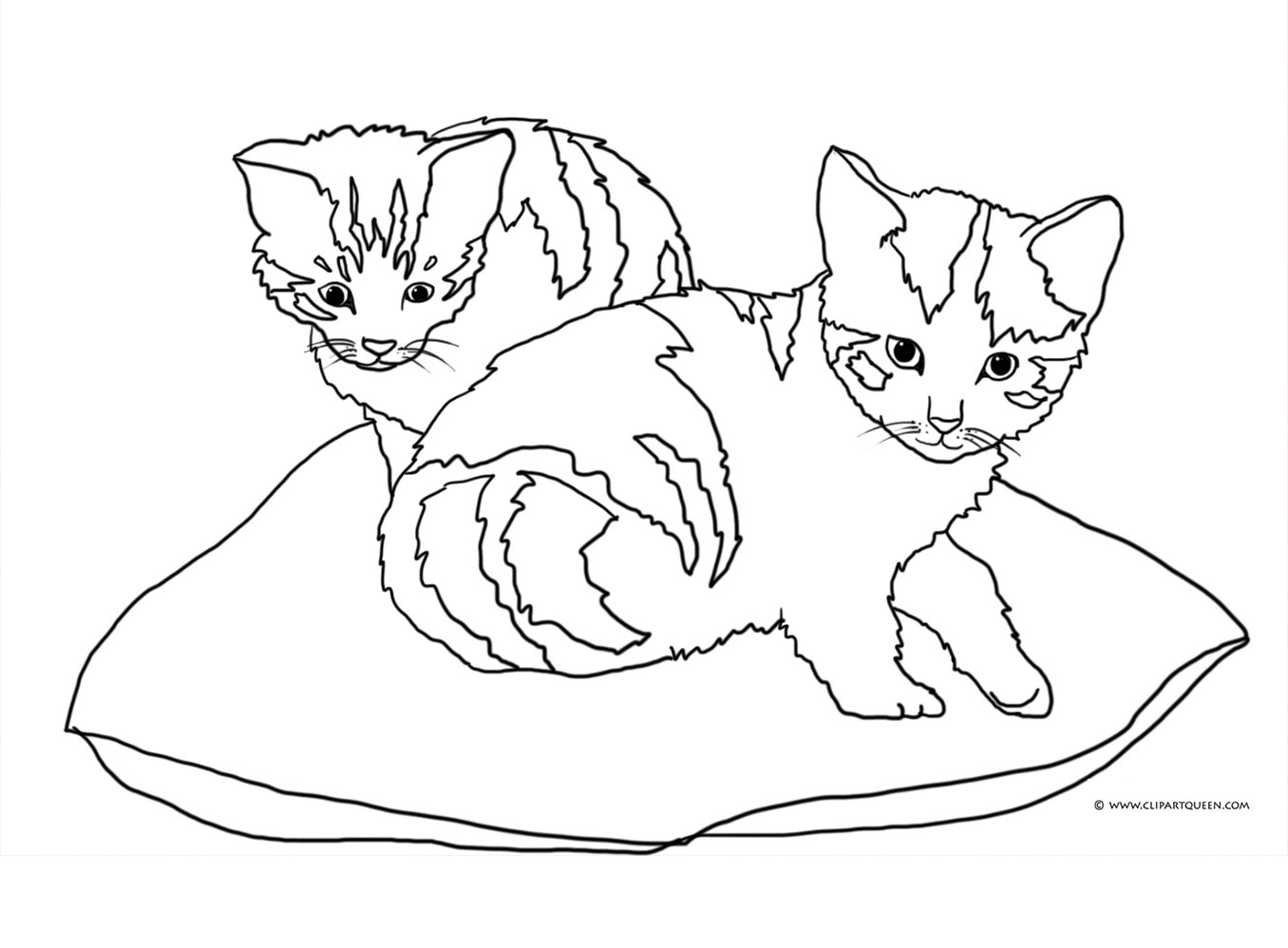 Cat Black And White Drawing at GetDrawings | Free download