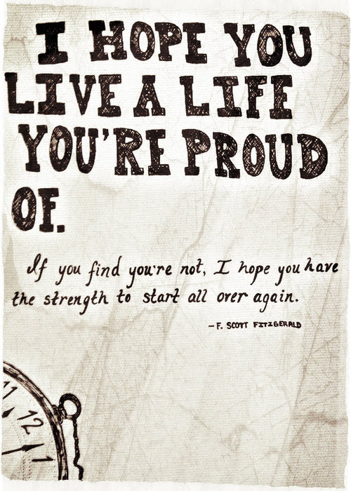 Life Quotes True Live Hope Strength F Scott Fitzgerald Start Over