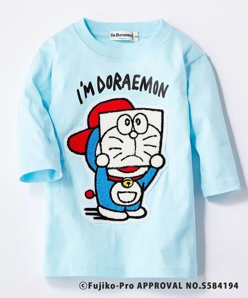 Right Onライトオンのim Doraemonドラえもん 顔隠し7分袖t