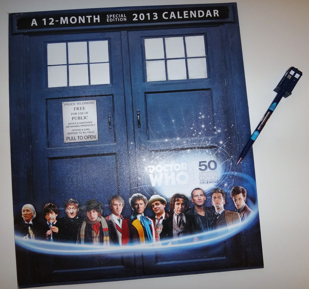 Doctor Who 50th anniversary calendar