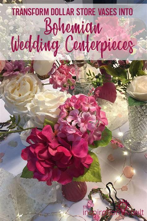 Transform Dollar Store Vases into Boho Wedding