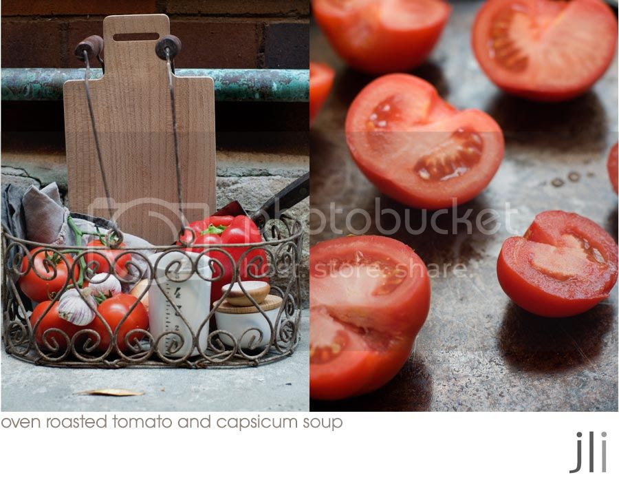 oven roasted tomato and capsicum soup