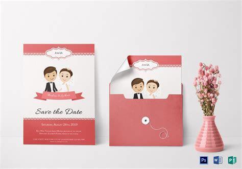Unique Wedding Invitation Card Design Template in Word