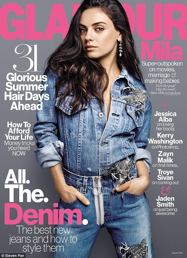 Cover girl: Mila Kunis appears on the cover of the August issue of Glamour, on newsstands July 12