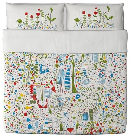 EIVOR LEVA Duvet cover and pillowcase(s) - modern - duvet covers ...