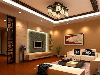 Residential Decor: Chinese Style Living Room Model 3D Model ...