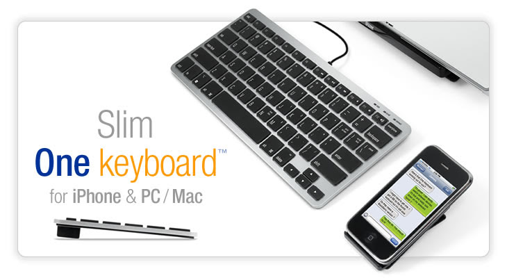 Matias One Keyboard for iPhone & PC / Mac